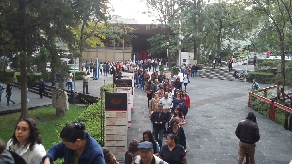Lining up for Elena Duran´s performance of We Are the Champions