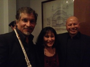 Elena with Cuauhtémoc Trejo and Armando Merino after their Sala Ponce Recital