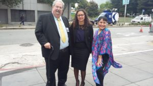 With Andy Klugar and Paula Linares